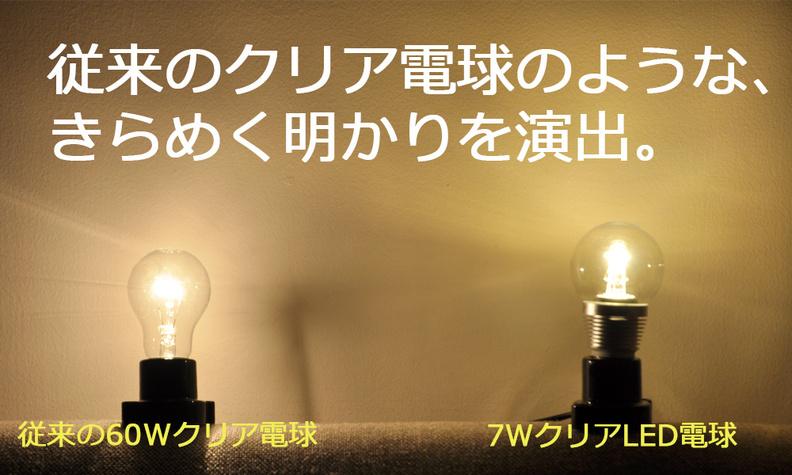 従来のクリア電球のようなきらめく明かりを演出